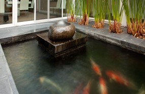 Los Gatos Koi Pond, Waterfall, Landscape Installation