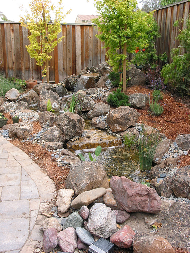 Morgan hill pondless waterfall and stream contractor for Design of pondless waterfalls
