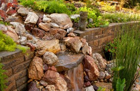 Pond Magic - Saratoga Waterfall, Pond, Landscaping and Patio