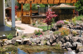 Scotts Valley Turtle Pond with Waterfall and Stream Builder