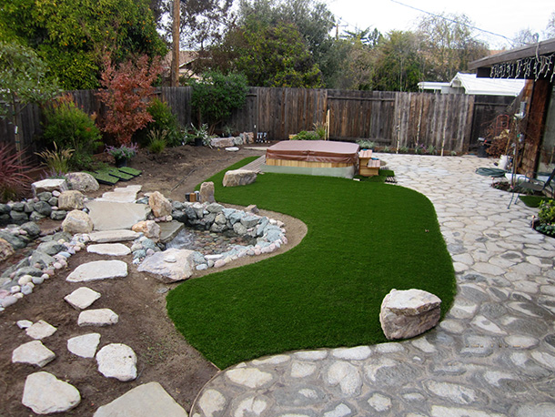 Pondless waterfall design lawn installation sunnyvale for Design of pondless waterfalls